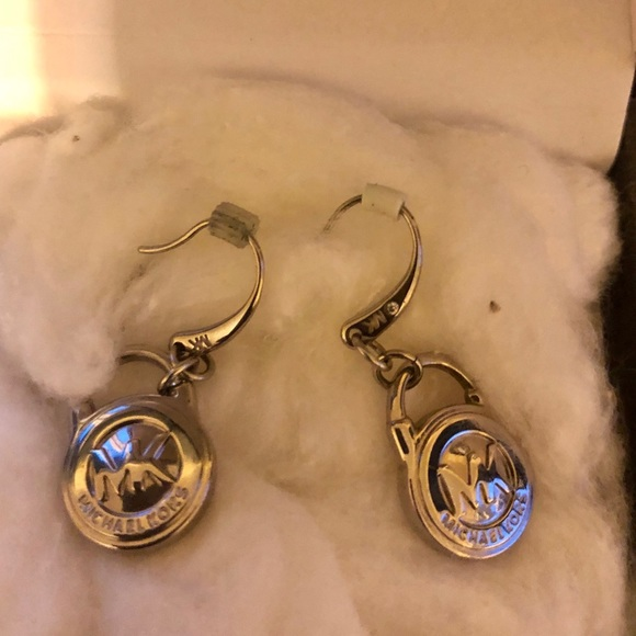 Michael Kors Jewelry - Micheal Kors silver earrings excellent condition